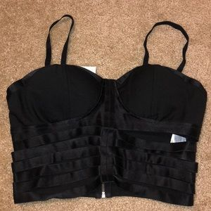 XL strapy corset Charlotte Russe black